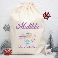 Personalised Christmas Santa Sack 80cm - Bauble