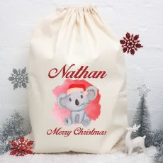 Personalised Christmas Santa Sack 80cm - Koala