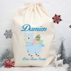 Personalised Christmas Santa Sack 80cm - Llama