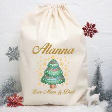 Personalised Christmas Santa Sack -StarTree