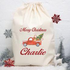 Personalised Christmas Santa Sack 80cm-Truck