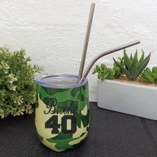 40th Birthday Eco Tumbler Camouflage