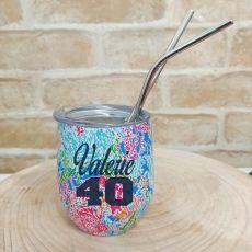 40th Birthday Eco Tumbler Coral Seas