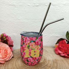 18th Birthday Eco Tumbler Roses