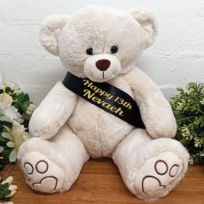Personalised Birthday Bear with 13th Sash