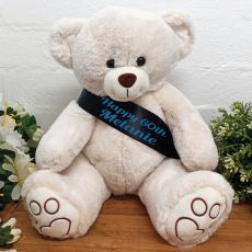 Personalised Birthday Bear with 60th Sash