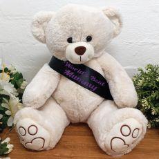 Personalised Bear with Mum Sash