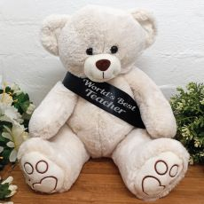 Personalised Bear with Teacher Sash
