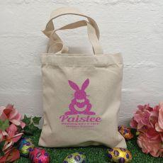 Personalised Easter Hunt Bag Basket - Bunny Heart