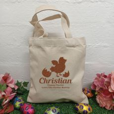 Personalised Easter Hunt Bag Basket - Easter Chicken