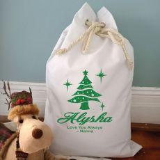 Personalised Christmas Santa Sack 70 x 50 - Tree