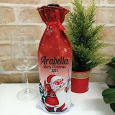Christmas Wine Bottle Cover - Santa
