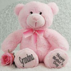 Grandma Mothers Day Teddy Bear Plush 30cm Light Pink