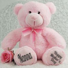 Nanna Mothers Day  Teddy Bear Plush 30cm Light Pink