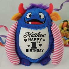 Personalised  Birthday Spike The Monster Cubbie Plush