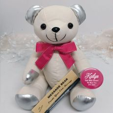 Get Well  Signature Bear Pink Bow