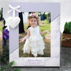 Personalised Flower Girl Photo Frame 5x7 Heart