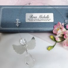 Personalised Baptism Angel Suncatcher