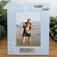 Personalised Poppy Fishing Frame 6x4