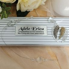 Personalised Christening Suncatcher -Angel Wings