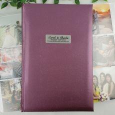 Personalised Engagement Album 300 Photo Rose