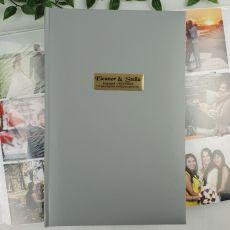 Personalised Engagement Album 300 Photo Silver