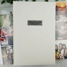 Personalised Engagement Album 300 Photo White