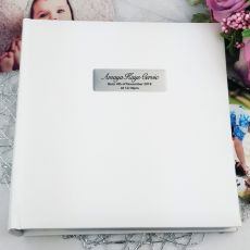 Personalised Baby Photo Album 200  - White