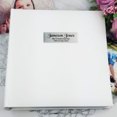 Personalised Christening Photo Album 200 - White