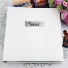 Personalised Memorial Photo Album 200  - White