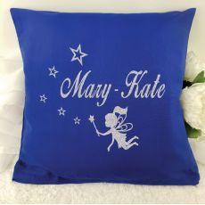 Glittered Fairy Cushion Cover - Blue