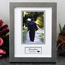 Personalised Graduation Photo Frame White / Silver 4x6 Photo