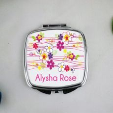Personalised Granddaughter Compact Mirror