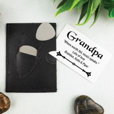 Grandad Leather Guitar Plectrum Pick Holder