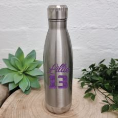 18th Birthday Silver Stainless Steel Drink Bottle
