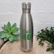 40th Birthday Silver Stainless Steel Drink Bottle