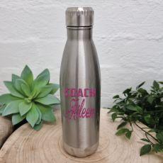 Coach Silver Stainless Steel Drink Bottle