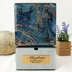 50th Birthday Mirrored Trinket Box- Fortune Of Blue