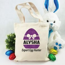Personalised Easter Hunt Bag - Bow Egg