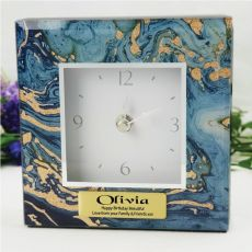 Birthday Glass Desk Clock - Fortune of Blue
