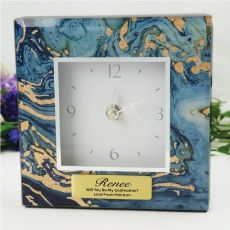 Godmother Glass Desk Clock - Fortune of Blue