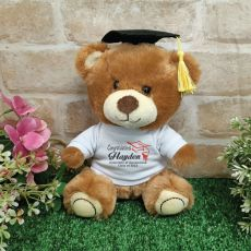 Graduation Teddy Bear with Personalised T-Shirt