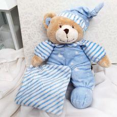 Baby Boy Comforter Bear Cuddles Blue