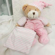 Baby Girl Comforter Bear Cuddles Pink