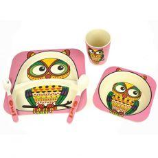 Bamboozoo Dinnerware Owl 5pce