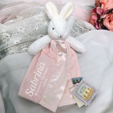 Personalised Baby Security Comforter Blanket - Blossom Pink