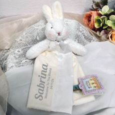 Personalised Baby Security Comforter Blanket - Blossom White