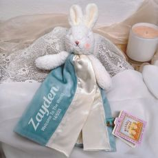 Personalised Baby Security Comforter Blanket - Blossom Blue