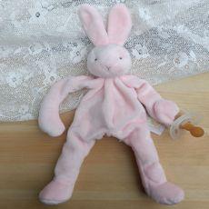 Baby Dummy Holder - Pink Bunny