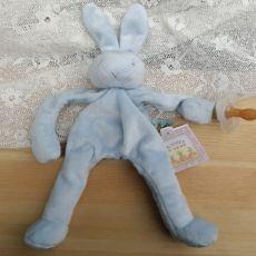 Baby Dummy Holder - Blue Bunny